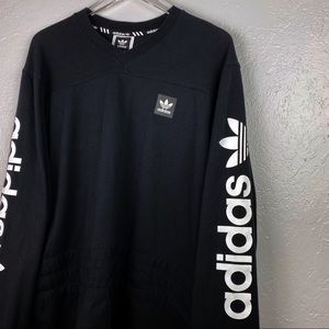 Adidas LRG Rugby Long Sleeved T Shirt 3 Stripes